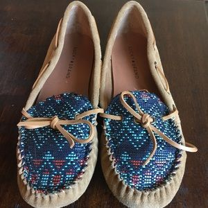 Brown leather Lucky Brand moccasins